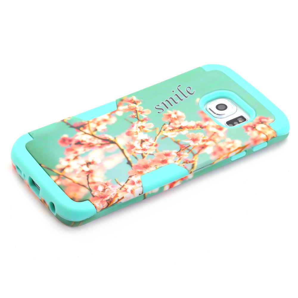 For Samsung Galaxy S6edge phone cases Case Cover Mobile phone shell cherry blossoms G9250 hot sale 2016 Mobile Phone Market(China (Mainland))