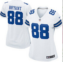 Women's lady size S-XXL 2016 free shipping,100% Stitiched, Dallas Cowboys Dez Bryant #88(China (Mainland))