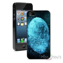 Fingerprint Security Forensics back skins mobile cellphone cases for iphone 4/4s 5/5s 5c SE 6/6s plus ipod touch 4/5/6