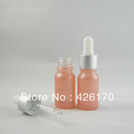 High-grade 10ml Pink Essential Oil Bottle Refillable Bottle Perfume Glass with Alumina Dropper(China (Mainland))