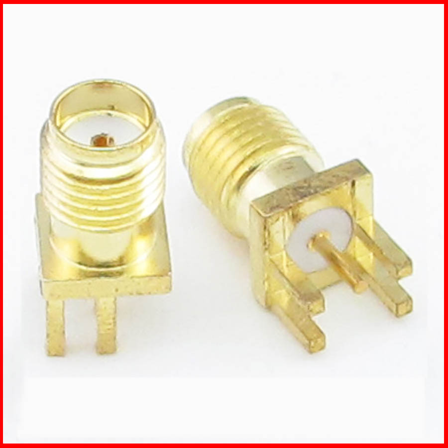 20pcs SMA female RF connector SMA-KE 1.6mm PCB Mount and SMA Female Plug Straight Receptacle Solder Adapter Connector(China (Mainland))