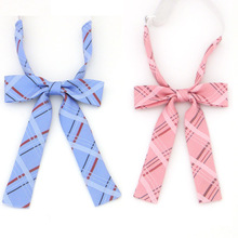 Japanese JK high school uniform jacquard ribbon bow style collar flower bow tie wholesale stripe cosplay bow tie