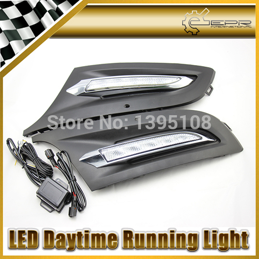 Car Styling Auto Lamp For Volkswagen VW Polo 2011-2013 LED Daytime Running Light DRL<br><br>Aliexpress
