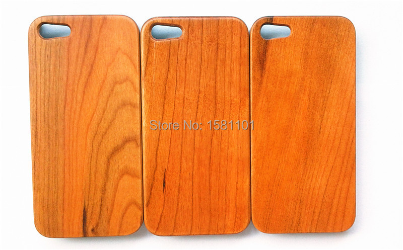 Luxury Original Cherry Wood Case for Apple iphone 5 5S 5G Genuine Back Cover for iphone 5S Expensive Lots Wholesale Big Discount(China (Mainland))
