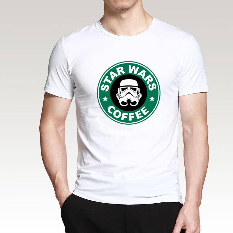2016 New Arrival Cool star wars T Shirt funny COFFEE Printed T-shirt Men's Short Sleeve O-Neck Streetwear HipHop Summer Tops Tee  HTB1A0pFMXXXXXcVXVXXq6xXFXXXa