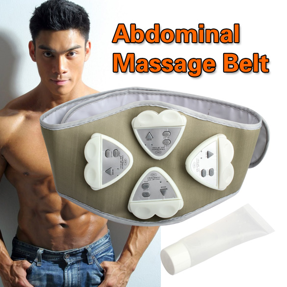 1pcs Gymnic Gymnastic Body Building ABS Belt Electronic AB Exercise Toning Toner Waist Muscle Wholesale Electronic Belt(China (Mainland))