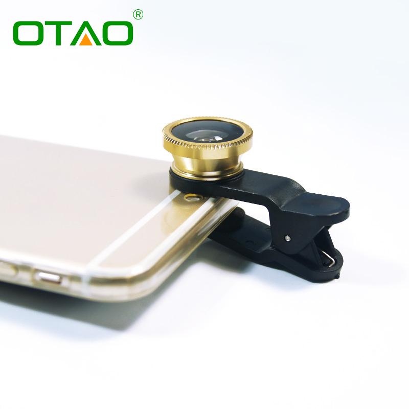 Original 3-in-1 Wide Angle Macro Fisheye Lens Kit Clip 0.67x Mobile Phone Fish Eye Lenses iPhone Samsung Phones