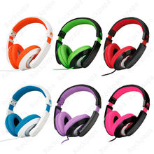 Rockpapa Over the Head Boys Girls Kids Adult Adjustable Stereo Computer Headphones for iPhone Smart Phone PC MP3/4 DVD iPod iPad