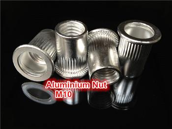 Flat Head M10  Aluminum  Rivet Nut  Aluminium Insert Nut PEM Rivet Nut
