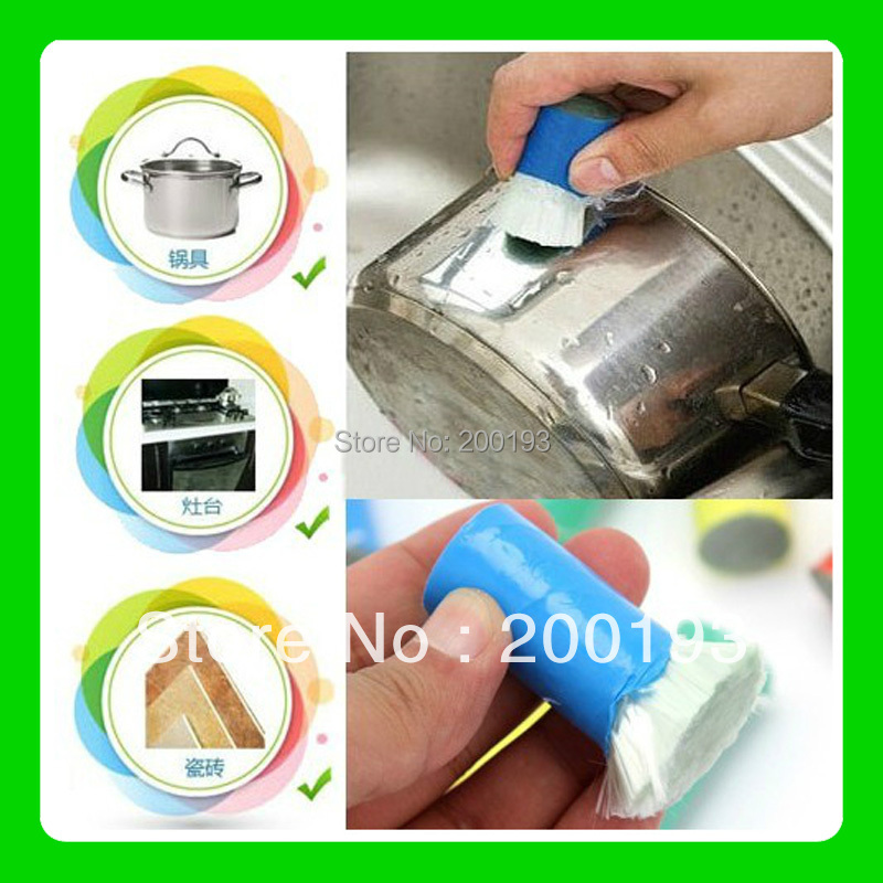 CHEAP PRICE SMILE MARKET Hot Free Gift Magic Stainless steel Cleaning Brushes(China (Mainland))