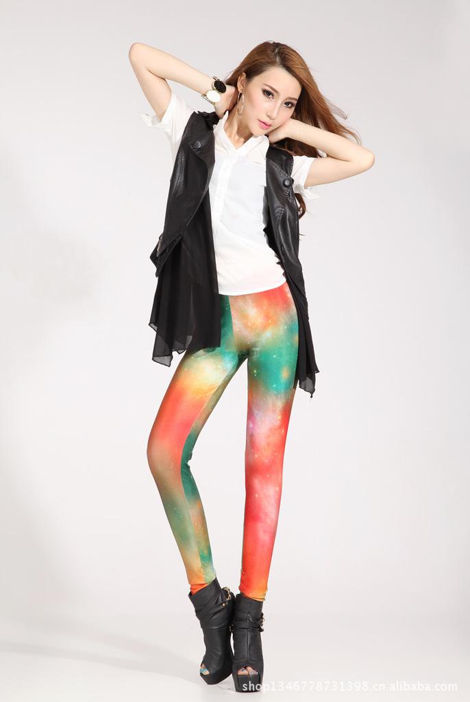 Fisher price Star war galaxy Digital print leggings fashion skinny pants pencil women 2013 warm tight leggin - Simple Men store