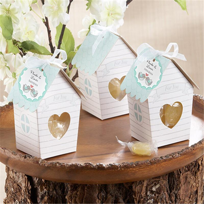 Casamento 1pcs Cute Small House Wedding Favor Boxes Wedding Candy Box Wedding Favors And Gifts Event & Party Supplies(China (Mainland))