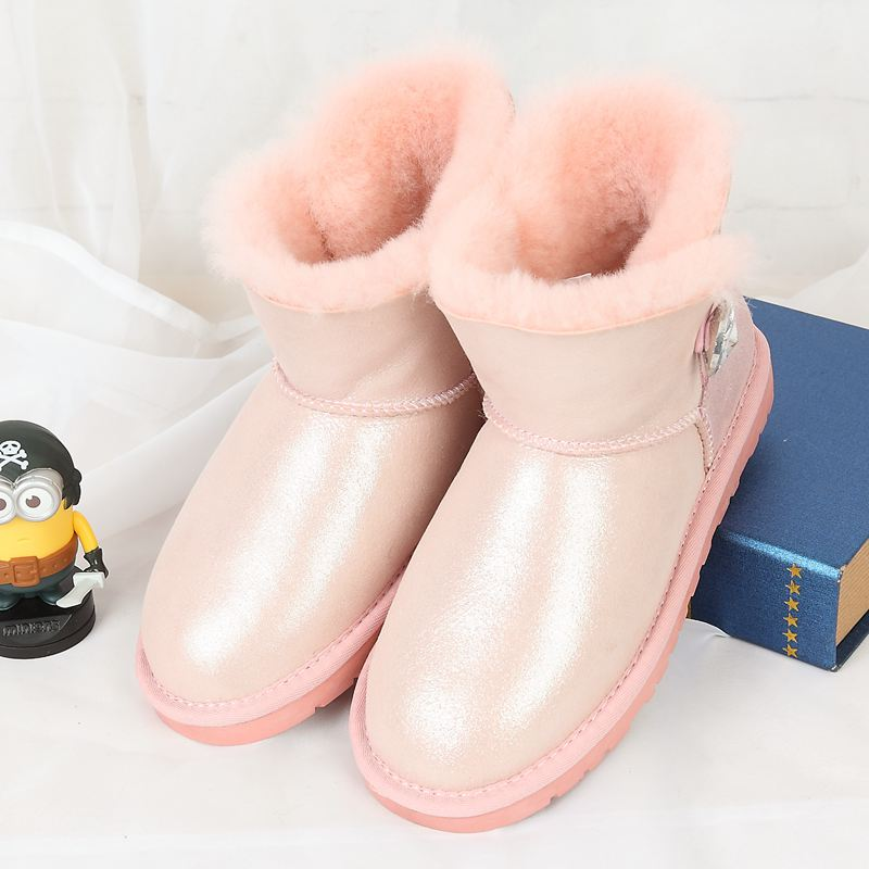 Free delivery 2017 high quality 100% Australian natural sheepskin fur boots with one pair of snow boots(China (Mainland))
