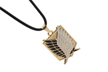 Attack on Titan New Cartoon Anime 2 Color Attack on Titan investigation Corps flag wing necklace