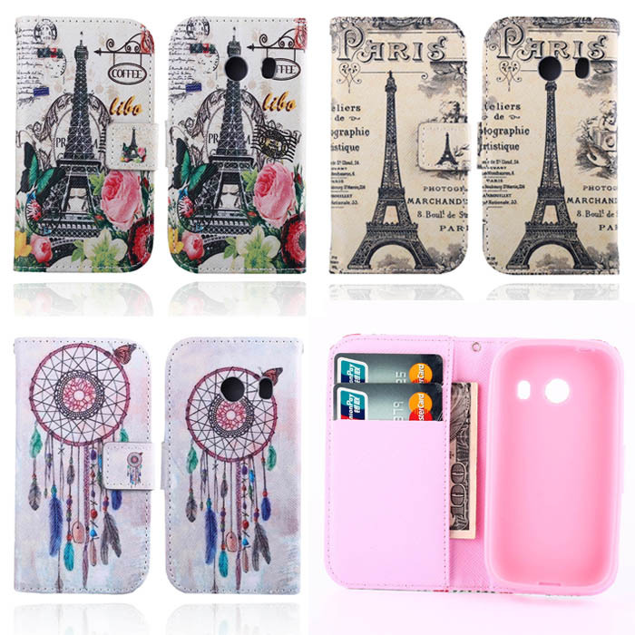 Wallet Cute Owl Cat Flip Leather Cover Case Samsung Galaxy Ace Style G310 Retro Eiffel Tower Butterfly Silicone Back - Shenzhen MaySun Electronic Co. , Ltd store