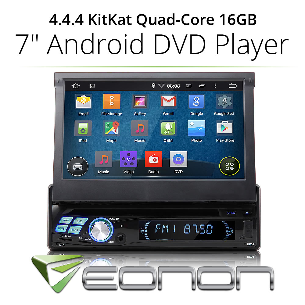 """Quad-Core Single 1 Din Android 4.4 7"""" Car DVD Player Stereo GPS Bluetooth OBD2(China (Mainland))"""