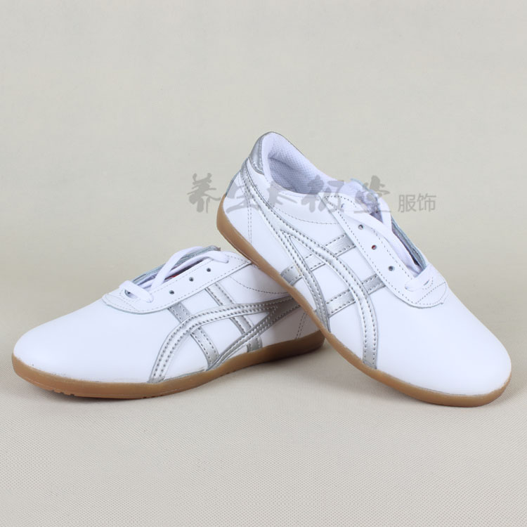 first layer cowhide tai chi shoes Soft leather goosegrass practise tai chi shoes White black # L688 tic-tac-toe pattern<br><br>Aliexpress