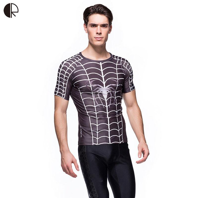 Spider High Quality Boys Mens Anti-UV 3D T shirts Fitness Compression Tights T-shirts Jersey MT954(China (Mainland))