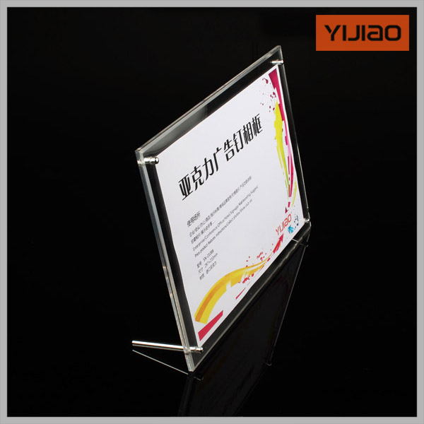 Transparent acrylic photo frame table card swing sets taiwan signed taiwan card crystal photo frame picture frame certificate(China (Mainland))