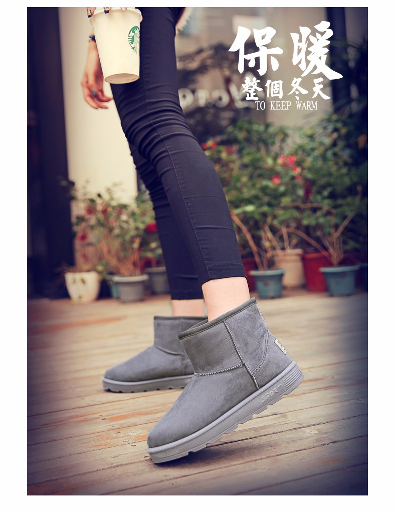 Ankle Boots For Women Winter Fashion Fur Snow Boots 2016 New Brand Desigh High Top  botas de las mujeres  Size 35-40