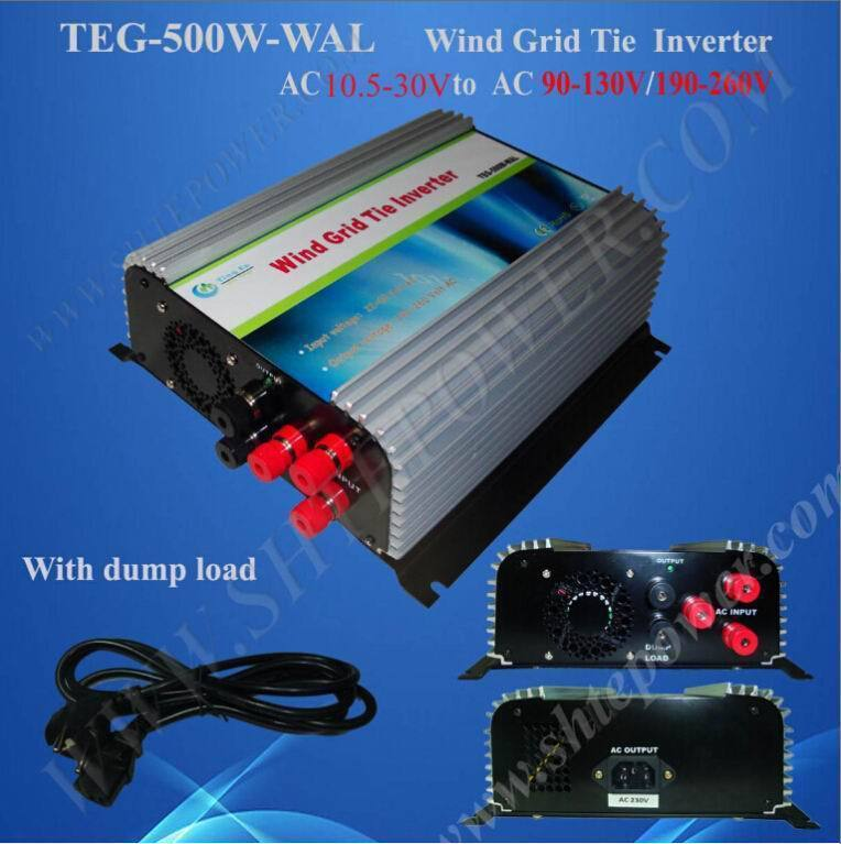 Great quality 3 phase Power 500W Grid Tie 12V 230V inverter for Wind Turbine system(China (Mainland))