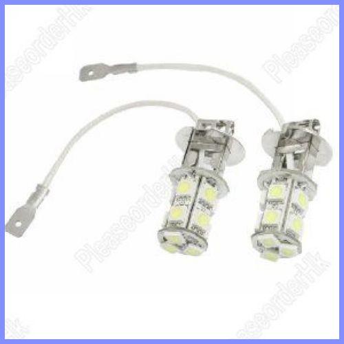 2pcs SMD 5050 13-LED Driving Fog Lights H3 LED Bulb Lamp White(China (Mainland))