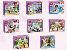 8pcs/lot BELA Building Blocks Friends Figures Emma/Mia Cat Play Pet House Minifigures Gifts Toys Compatible Legoe Friends(China (Mainland))
