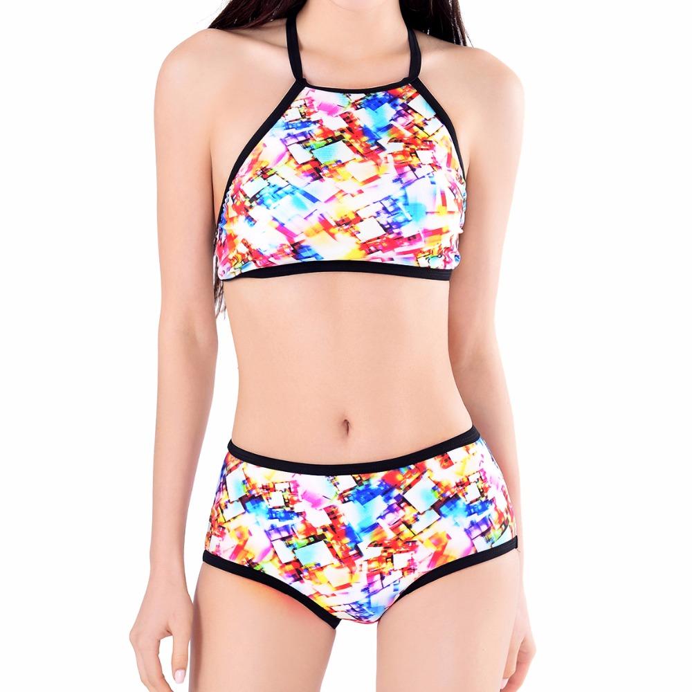 X-HERR 2016 Sexy Bikini Set Women Swim Suits Crop Fashion Halter Bandeau Ladies Swimwear Summer Backless Bathing Suits Plavky(China (Mainland))