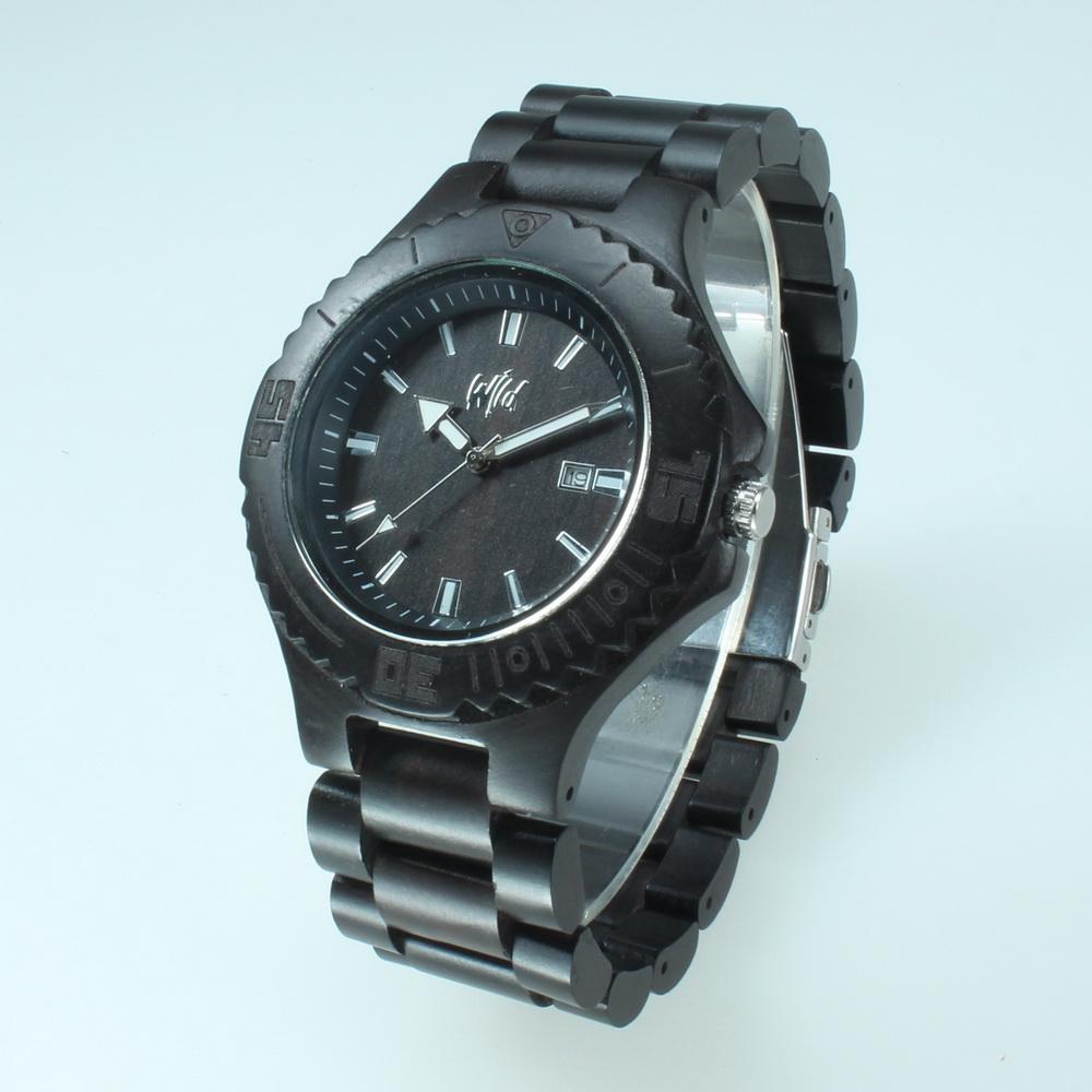 Black Wood Watch Men Wristwatch Wooden Wrist Watch Man Black Sandalwood Watch Japan Miyota Movement(China (Mainland))