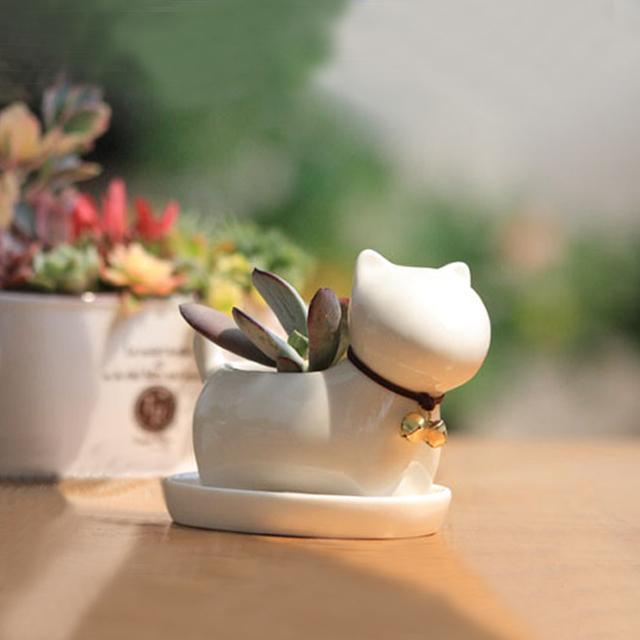 Free Shipping Mini animal flower pot home decoration flower plants mini plant flower pot