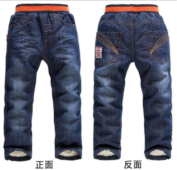 CP161 Free shipping 2015 K K Rabbit brand children jeans high quality warm for winter boy and girl's pants kids pants retail