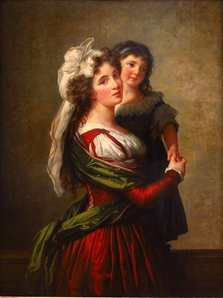 Canvas Painting Wall Art Home Decoration;Madame Rousseau et sa fille by Elisabeth Vigee Le Brun(China (Mainland))