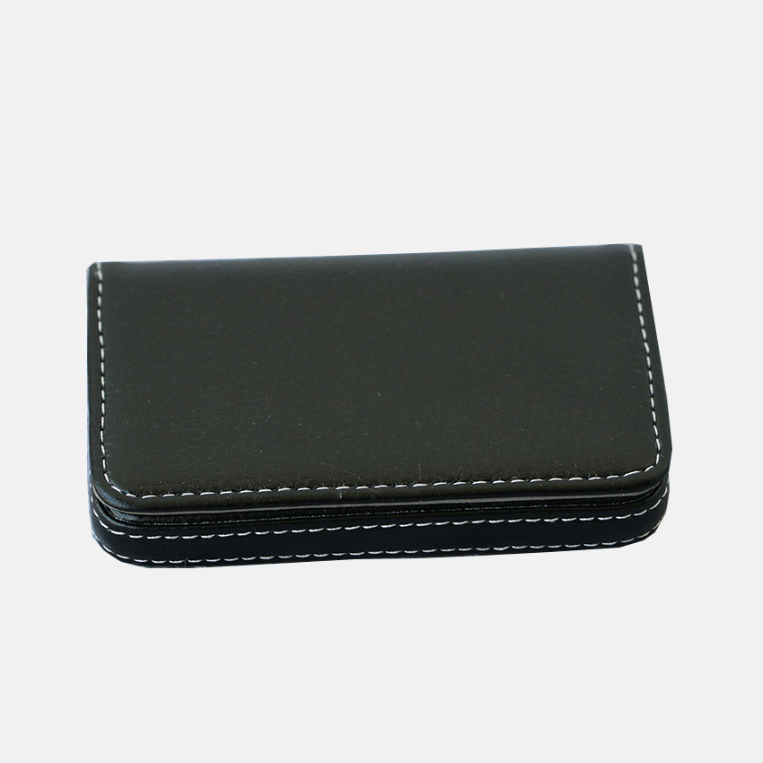 Ever perfect fashion lichee pattern pu leather cover id for Leather pocket business card holder