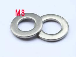 M8 Flat washer DIN125A SUS 304 A2 stainless steel washers gaskets 1000 pieces(China (Mainland))
