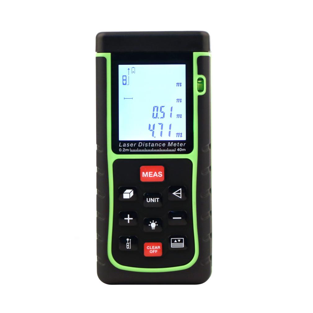 Hot 40m/131ft Digital Laser distance meter Rangefinder Range finder Bubble level Tape measure tool C1Hot  Arrival New