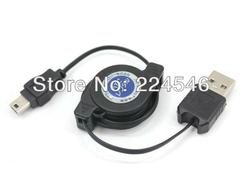 ATC Retractable Hi-Speed USB 2.0 Cable Mini-B Cable 5-pin Type A USB Mini Type B USB 2.6ft<br><br>Aliexpress