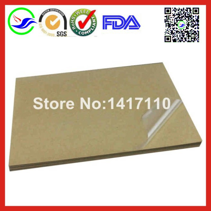 Self adhesive 1040Sheet A4 blank Transparent vinyl Sticker Label Laser Printer Paper Water proof,mainly used for lamination film(China (Mainland))