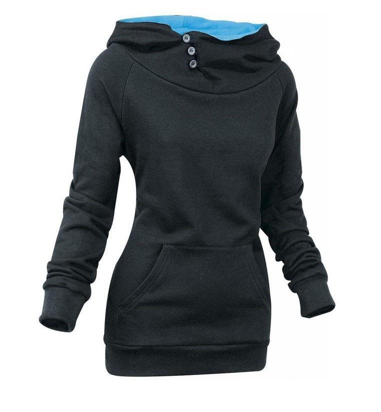 New 2016 Women autumn Winter Hoodies Sweatshirts casual Sportwear fleece TurtleNeck long sleeve ropa de deporte mujer D386