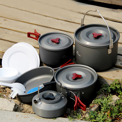 Fire Maple 6-7 Persons Cooking Pot Set Portable Outdoor Camping Tablewares Camp Cooking Cookware Picnic Outdoor Cutlery FMC-212