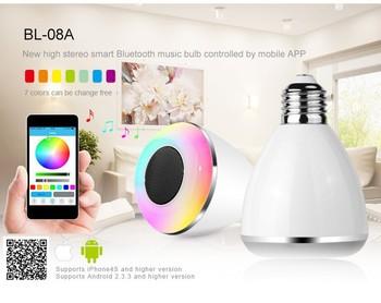 Умный из светодиодов реветь свет беспроводной bluetooth-спикер 100 В - 240 В E27 / B22 6 Вт лампа аудио для iPhone ipad и Android смартфон