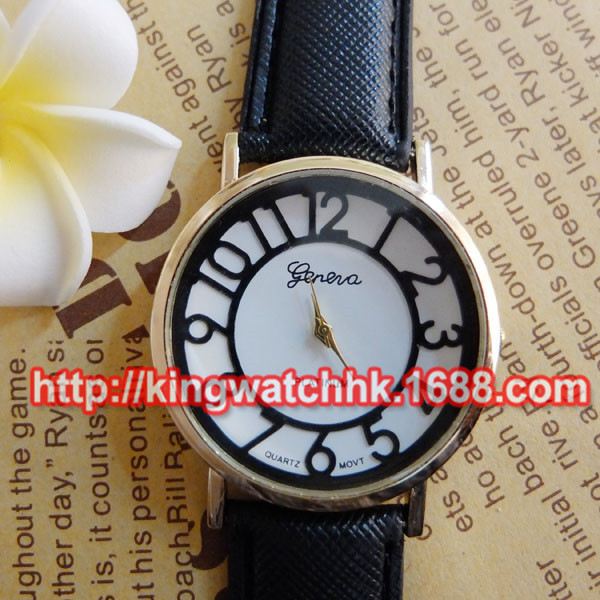 DHL free,100pcs/lot, Ladies Womens Geneva Faux Leather Band Elegant Flower Casual Analog Quartz Wrist boyfriend Watch<br><br>Aliexpress