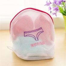 4 Sizes Zippered Foldable Nylon Laundry Bag Bra Socks Underwear Clothes Washing Machine Protection Net Mesh Bags(China)