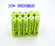 Free Shipping 10 Pcs 18650 battery Ultrafire bateria 3.7V 8800mAh Li-ion Rechargeable Battery Flashlight batteries wholesale(China (Mainland))