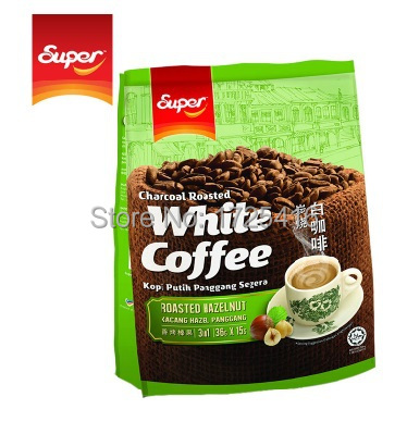 Malaysia imported charcoal grilled hazelnut instant Super Ipoh White Coffee 3 in 1 free shipping
