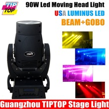 TIPTOP Super Beam Scanner 90W Led Moving Head Light USA Luminus DMX 13CH 1 Color Wheel 1 Static Gobo 5 Facet Prism Beam 4 Degree