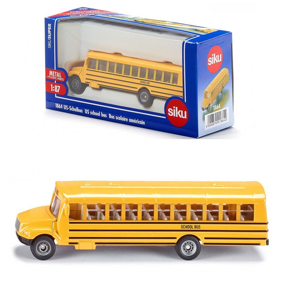 Free Shipping/Siku 1:87 Scale/Diecast Toy Car Model/US Children School Bus/Educational/Collection/Toy for children/Gift(China (Mainland))
