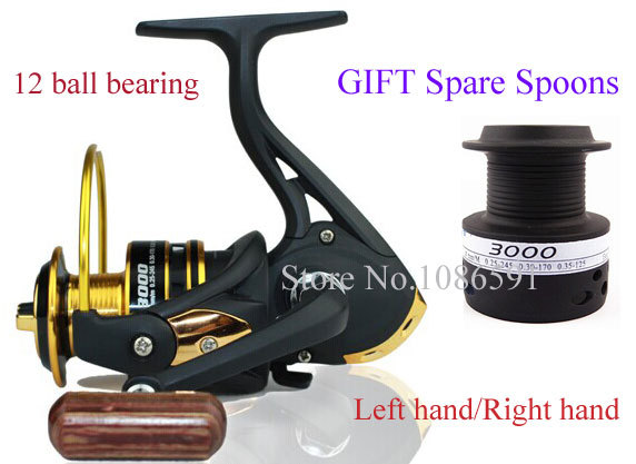 2014 sale 2000-5000 series spare spools 12bb metal aluminum fishing lure spinning reel carp fish discount hot sell free shipping(China (Mainland))