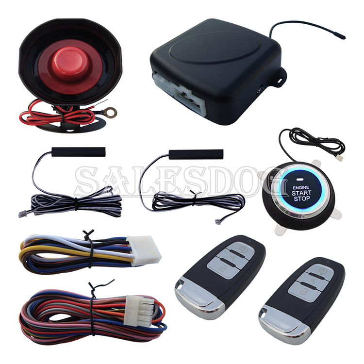 Stock In USA High Quality Smart Key PKE Car Alarm System With Remote Control Start Engine & Push Button Start Engine(China (Mainland))