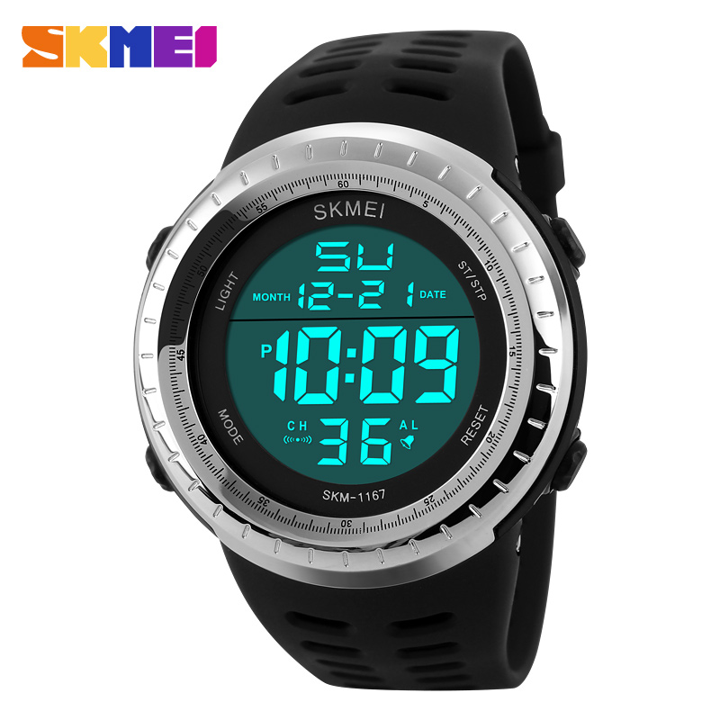 2016 New Skmei Brand Men LED Digital Military Watch Fashion Sports Watches Dive Swim Outdoor Casual Wristwatches For Men(China (Mainland))
