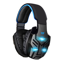 Y028 Over-ear Music Voice Game Gaming Headphone Headset Earphone Headband with Mic Stereo Bass LED Light for PS3 PS4 PC Game